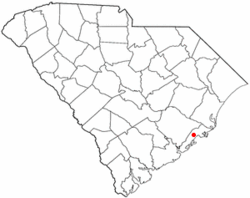 Location of Awendaw in South Carolina