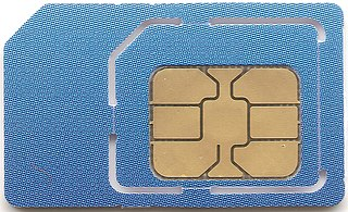 SIM card Integrated circuit card for a mobile device