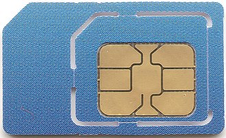 SIM card - A typical SIM card (mini-SIM with micro-SIM cutout)