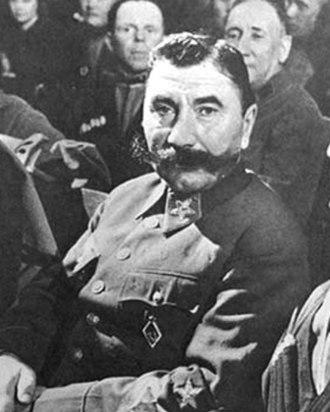 Semyon Budyonny - Budyonny at Marshal Tukhachevsky's Show Trial, 1937