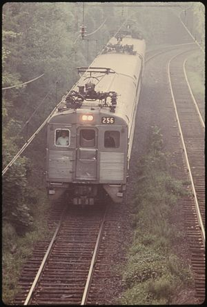 Budd Silverliner - Penn Central operated Silverliner II outbound at Chelten Avenue in 1974.