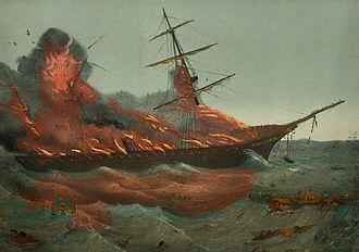 "SS Austria - ""The shipwreck of SS Austria"" shown at Odense, Denmark"