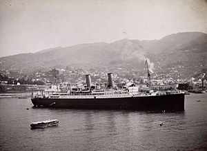 SS Montrose at Funchal, Madeira, 1934.jpg