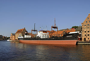 SS Soldek as a museum ship in Gdansk