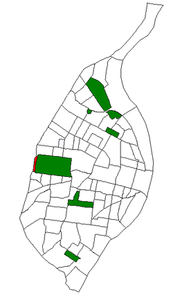 Location of Wydown/Skinker within St. Louis