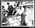 Sailor possibly on board the French warship BELLATRIX in Sydney, 1930-1932 (7633886914).jpg