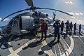Sailors perform FOD walk down aboard USS McCampbell. (12239037956).jpg
