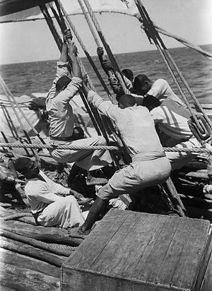 Baghlah - A baghlah needed to be manned by a numerous crew