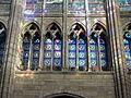 Saint-Denis (93), basilique Saint-Denis, triforium au nord du chœur.JPG