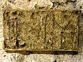Saint-Leu-d'Esserent (60), église Saint-Nicolas, moulage de graffiti (exposé au musée) 1.jpg