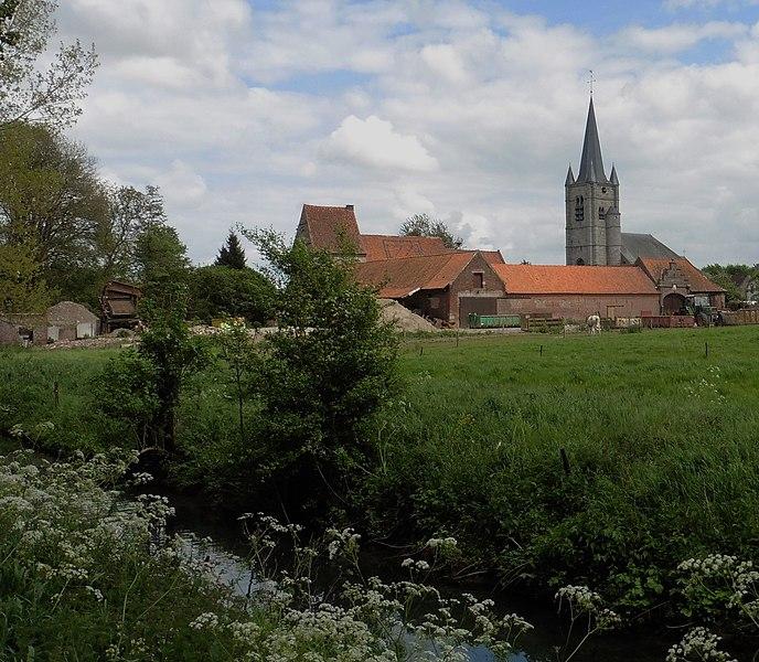 La  Commanderie de Saint-Léger à Saint-Léger commune d' Estaimpuis Belgique.
