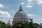 Saint Peter's Basilica Dome from Square Garden Vatican 14.jpg
