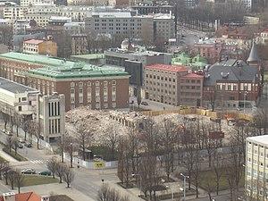 Südalinn - Image: Sakala keskuse varemed 2007