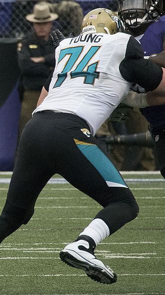 Sam Young (American football) - Young with the Jacksonville Jaguars in 2014