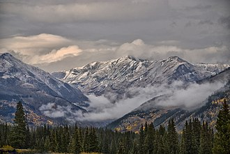 San Juan Mountains - San Juans in the fall of 2008, viewed from north of Durango