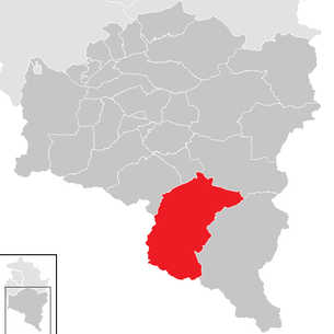 Location of the municipality of St. Gallenkirch in the Bludenz district (clickable map)