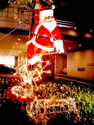 Christmas traditions - Santa Claus in Kobe, Japan