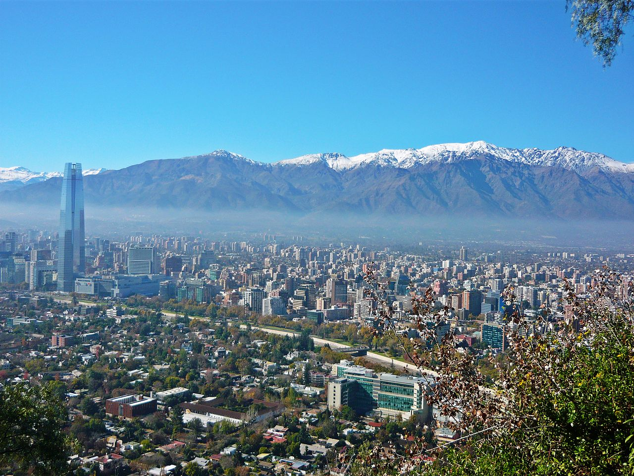 Santiago Skyline via Wikipedia