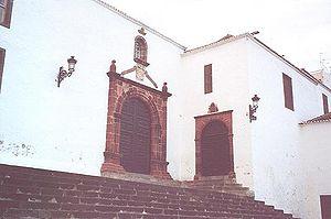 Alonso Fernández de Lugo - Church of Santo Domingo, Santa Cruz de la Palma.  Built on foundations of hermitage of San Miguel (Saint Michael) founded by Fernández de Lugo on May 14, 1506. Saint Michael is the patron saint of Flanders, where many colonists in La Palma originated.