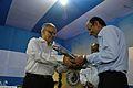Saroj Ghose Presents Memento to Ratan Kumar Chakrabarti - Inaugural Function - MSE Golden Jubilee Celebration - Science City - Kolkata 2015-11-17 5022.JPG