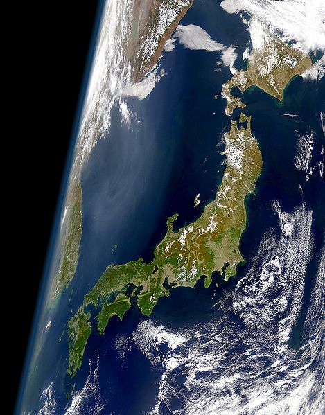 Satellitenbild von Japan (Quelle: Wikipedia) border=