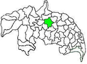 Sattenapalle mandal - Mandal map of Guntur district showing   Sattenapalle mandal (in green)