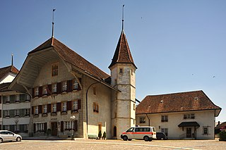 castle in the municipality of Aarberg in the canton of Bern, Switzerland