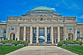 Science Museum of Virginia - View of the Science Museum of Virginia facade and kugel ball.