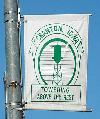 Scranton, Iowa - City banner located along Main Street