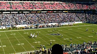 Jaguars–Titans rivalry - The Jacksonville Jaguars and Tennessee Titans prepare to kickoff the first half at LP Field in Nashville, Tennessee, on Sunday, November 10, 2013