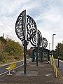 Sculptures at Birkenhead Park station 2020.jpg