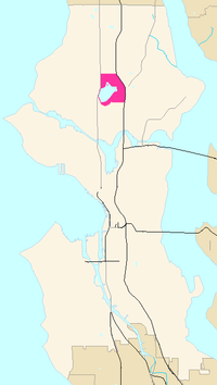 Map of Green Lake's location in Seattle