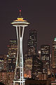 Seattle Space Needle at night, from Kerry Park (7666889068).jpg