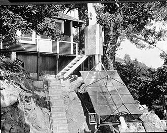 Charles Greeley Abbot - Abbot's solar cooker at Mount Wilson Observatory.