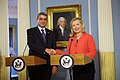 Secretary Clinton Shakes Hands With Romanian Foreign Minister Baconschi.jpg