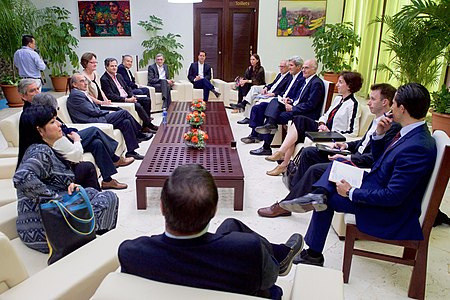 Secretary Kerry Meets With Colombian Officials in Havana, Cuba (25972327695).jpg