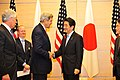 Secretary Kerry Shakes Hands With Japanese Prime Minister Abe (10067975666).jpg