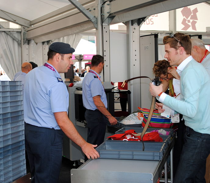 File:Security check, Olympic Park, London.jpg