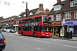 Selsdon: Addington Road: Bus on Route 64,