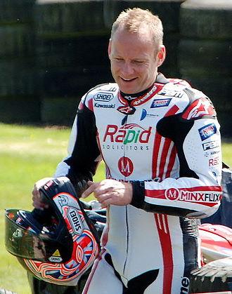 Shane Byrne (motorcyclist) - Byrne at Oulton Park British Superbikes in 2013