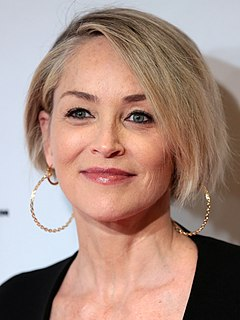 Sharon Stone American actress and fashion model