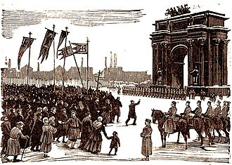 1905 Russian Revolution - Demonstrations before Bloody Sunday