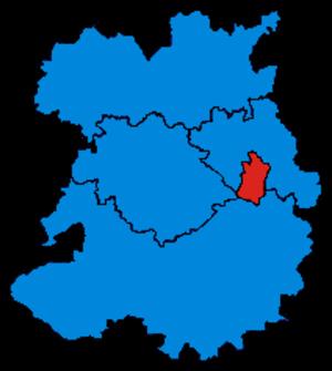 Parliamentary constituencies in Shropshire - Image: Shropshire Parliamentary Constituency 2010Results 2
