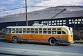 Side view Johnstown trolley coach 705, built 1951 by St. Louis Car Company.jpg