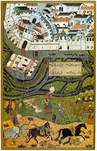 Siege of Temesvár (1552) - The siege in an Ottoman miniature
