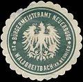 Siegelmarke Bürgermeisteramt Neuerburg zu Waldbreitbach Kreis Neuwied W0383803.jpg