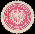 Siegelmarke Der K. Landrat des Kreises Grevenbroich W0391091.jpg