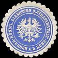 Siegelmarke Königliche Direktion der Strafanstalt - Werden an der Ruhr W0226061.jpg