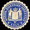 Siegelmarke Königliche Eisenbahn - Direktion - Köln W0221109.jpg