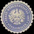 Siegelmarke Stadt-Bürgermeister-Amt Hückeswagen W0382978.jpg